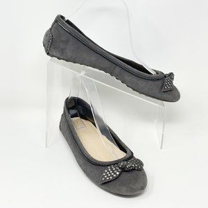 Nine West Gray Suede Leather Ballet Flat Size 9.5